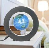 Zwevende wereldbol ø 9 cm met Rond-frame_