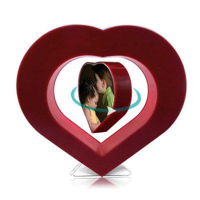 Zwevende fotolijst met rode hart-frame