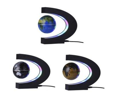 Zwevende wereldbol ø 9 cm met C-frame
